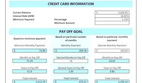 Credit Card Debt Calculator Excel Imagemaker Club