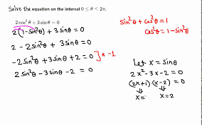 solving trigonometric equation 2 cos 2 x 3 sin x 0