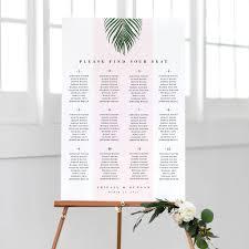 Seating Chart Design Modern Tropical Wedding Seating Chart Pdf Template Abigail Design