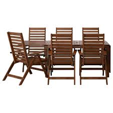 IKEA PPLAR table+6 reclining chairs, outdoor