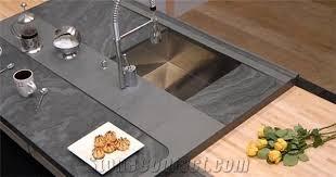 brazil grey slate kitchen countertop