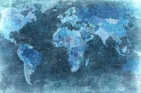 world map wallpaper world map blue wall murals wallpaper rebel walls