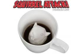 awesome office accessories. 1. Squirrel Attack Coffee Mug Awesome Office Accessories