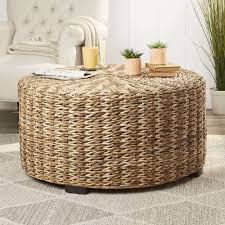 round woven coffee table new birch lane natasha coffee table for the home