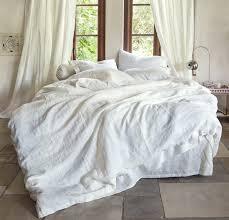 linen duvet cover  rough linen  natural minimalist bedding