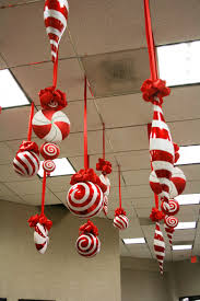Candy Decorations Large Candy Christmas Ornaments Hanging From The Ceiling