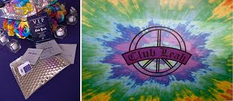 Leah Bat Mitzvah Ventanas Purple Invitations Logo Tie Dye