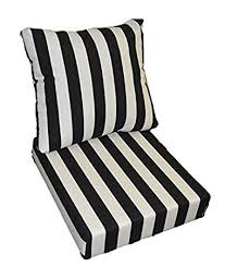 Amazon Black and White Stripe Cushions for Patio Outdoor
