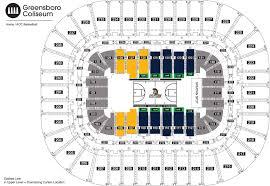 Greensboro Coliseum Detailed Seating Chart Seating Chart Uncg Athletics