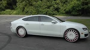 audi a7 white with black rims. white on audi a7 24 with black rims m