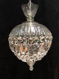 a pair of english cut glass antique basket chandeliers 517300 ingantiques co uk