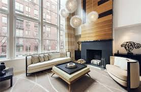 Image Interior Modern Zen Style Living Room With Wood Accent Wall Fireplace Globe Lighting Beige Furniture Designing Idea Zen Decor Ideas calming Room Styles Designing Idea