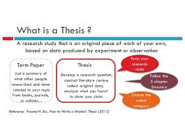 How To Write A Dissertations How To Write A Thesis