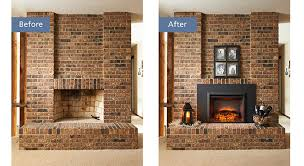 electric insert before and after