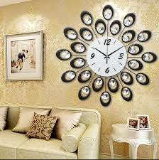 fancy idea large decorative wall clocks home decoration clock modern design 3d vintage sticker quartz simple