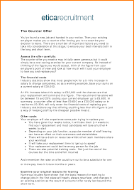 11 Counter Offer Letter Example For Personal Injury Cashier Resumes