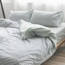 ... Gray Pinstripe Bedding Pinstripe Duvet Cover Striped Bedding Striped  Linen: inspiring gray ...