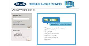 Shinobitech Cf Login To Old Navy Credit Card Center Online