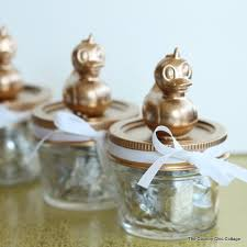 baby shower mason jar favors add a simple topper to mason jars for the