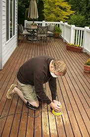 deck maintenance refinishing wooden deck