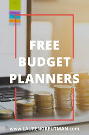 Budget Planners Free 7 Free Budget Planners Easy Downloadable Files