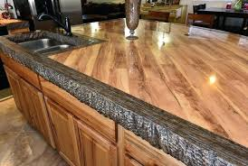 use stained concrete countertops
