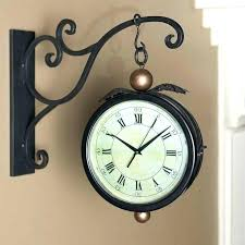 2 sided clock dual wall clocks com double modern train station here are five amazing for