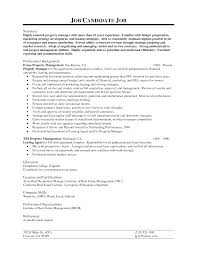 Resume Property Manager Resume