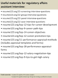 Career Objective On Resume Top 100 regulatory affairs assistant resume samples 88