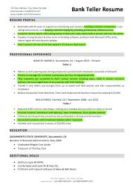 Bank Teller Resumes Resume Skills For Sample Resumelift Template New ...