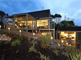 house plans lots modern hillside narrow lake designed sloping lot hill home