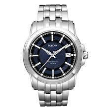Bulova Watch Battery Replacement Chart Bulova Mens Precisionist Blue Dial And Stainless Steel Watch