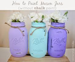 How To Decorate Mason Jars How to Paint Mason Jars without Chalk Paint Pretty Real 65