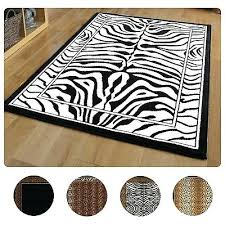 modern leopard animal print area rug zebra safari carpet actual black and white