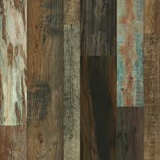 Master Design Distressed Idaho Barn Random Width Laminate Flooring With  Attached Pad