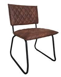4x Stuhl Keda Esszimmerstuhl Kunstleder Braun