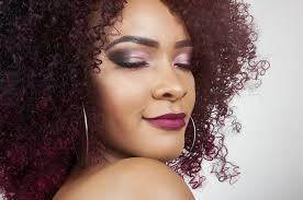 beauty red hair closeup makeup