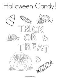 halloween candy coloring page. Trick Or Treat Letters Coloring Page To Halloween Candy