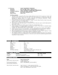9 10 Machine Operator Objectives For Resume Lawrencesmeats Com