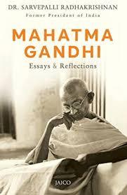 mahatma gandhi essays reflections s stock image