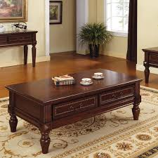 Steve Silver Davina Rectangle Cherry Wood Coffee Table Gallery