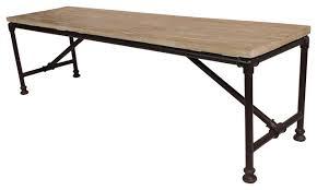 reclaimed wood coffee table w metal