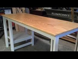 Also i would prefer bamboo but am not sure i will be attaching the tabletop to the frame with insert nuts/grommets if that makes a difference. Easy Single Sheet Plywood Desk Youtube