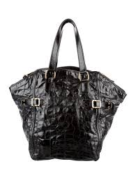 yves saint lau embossed patent leather downtown tote yves saint lau clutch with chain