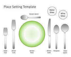 Place Setting Template The Empress