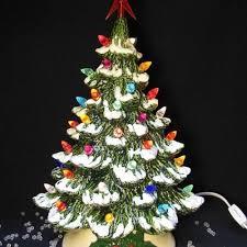 Ceramic Tabletop Christmas Tree With Lights Mesmerizing Illuminated Tabletop Ceramic Christmas Trees Anshin
