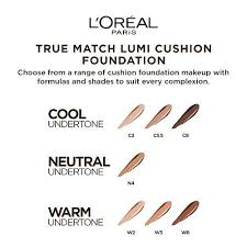 True Match Foundation Colour Chart Buy Loreal Paris True Match Lumi Cushion Foundation W3
