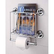 Toilet Roll Holder Magazine Rack