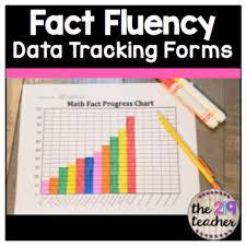Math Facts Progress Chart Math Fact Fluency Data Tracking