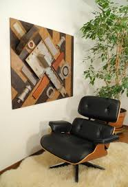 wood assemblage art wall hanging